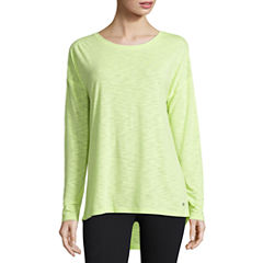 Xersion™ Studio Long-Sleeve Cross-Back Tee
