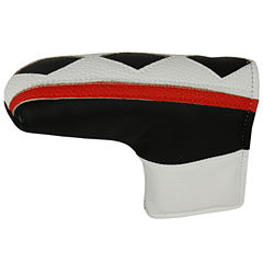 Hot-Z  L-Shape Putter Cover - White/Black/Red Stripe
