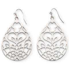 Open Work Flower Drop Earrings