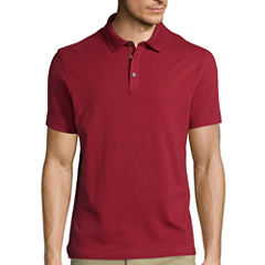Claiborne® Short-Sleeve Slim-Fit Solid Polo