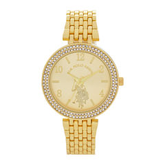 U.S. Polo Assn. Womens Gold Tone Bracelet Watch-Usc40216jc