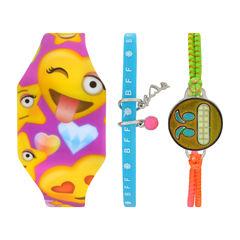 Total Girl Girls Multicolor Watch Boxed Set-Ttg1006jc