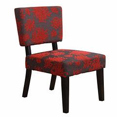 Simon Gray Fabric Slipper Chair