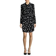 Liz Claiborne Long Sleeve Shirt Dress