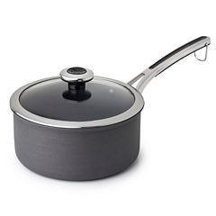 Revere Clean Pan 3 Qt Aluminum Hard Anodized Non-Stick Sauce Pan