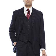 Steve Harvey® Navy Striped Suit Jacket