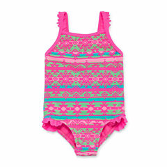 Okie Dokie One Piece Swimsuit Toddler Girls