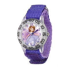 Disney Sofia the First Kids Purple Nylon Strap Watch