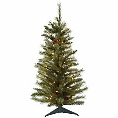 Nearly Natural 3ft Prelit Christmas Tree