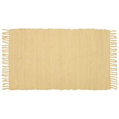 Agra Solid Washable Cotton Rectangular Rug