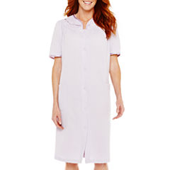 Adonna Short-Sleeve Snap Front Duster Robe