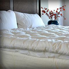 DownLinens Billowy Clouds 100% Natural Cotton Top Mattress Pad