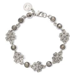 Liz Claiborne® Marcasite Flower Boxed Bracelet