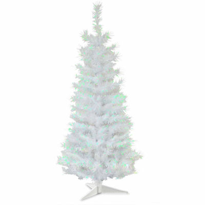 national tree co 3 foot white iridescent tinsel christmas tree - Christmas Trees Clearance