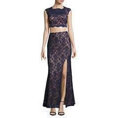 City Triangle Short Sleeve Dress Set-Juniors