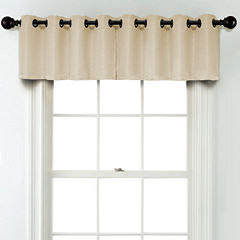 JCPenney Home Textured Blackout Grommet Poly-Cotton Lined Tailored Valance
