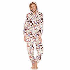 Donuts Long Sleeve One Piece Pajama