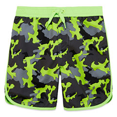 Arizona Boys Camouflage Swim Trunks-Toddler