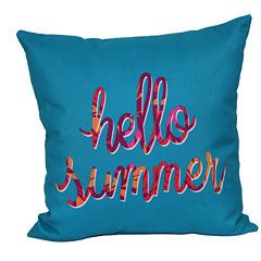 Outdoor Oasis™ Hello Summer Square Pillow