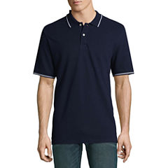 St. Johns Bay Short Sleeve Pique Polo Shirt