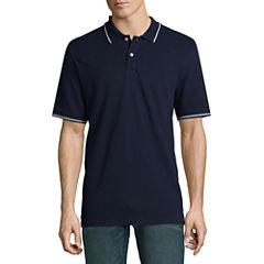 St. Johns Bay Short Sleeve Pique Polo Shirt ( muliti colour)