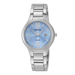 Seiko® Womens Stainless Steel Solar Bracelet Watch SUT209