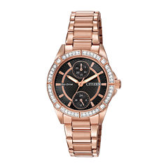 Citizen® Eco-Drive® Womens Crystal-Accent Bracelet Watch FD3003-58E