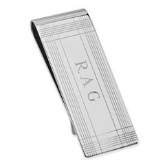 Sterling Silver Personalized Tartan Money Clip