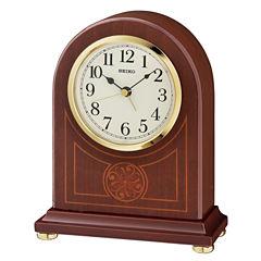 Seiko White Table Clock-Qxe057blh