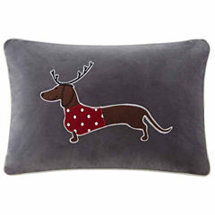 Madison Park Dasher The Sleigh Dog Oblong Throw Pillow