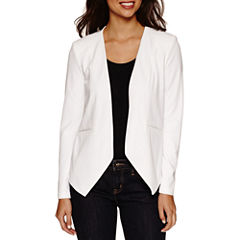 Bisou Bisou Seamed Open Blazer