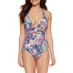 Liz Claiborne Paisley One Piece Swimsuit
