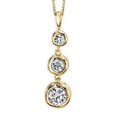 Sirena™ 1/2 CT. T.W. Diamond 14K Yellow Gold Pendant Necklace
