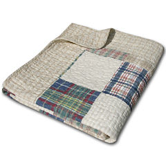 Greenland Home Fashions Oxford Quilted Cotton Throw