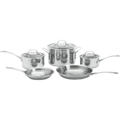 calphalon triply 8pc stainless steel cookware set