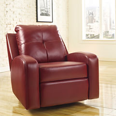 Signature Design by Ashley Mannix Faux Leather Recliner