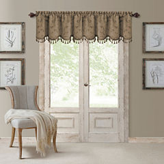 Elrene Mia Jacquard Rod-Pocket Scalloped Valance