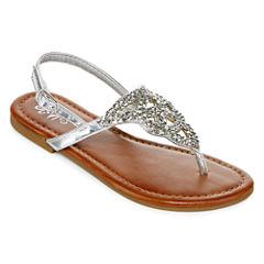 Stevies® Messii Girls Embellished Flat Sandals - Little Kids/Big Kids