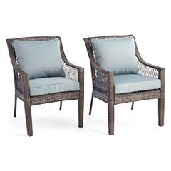 Outdoor OasisTM Latigo Wicker Dining Chair Set Of 2