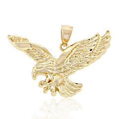 Mens 14K Yellow Gold Eagle Pendant