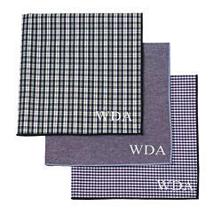 Personalized Gingham Handkerchief Set