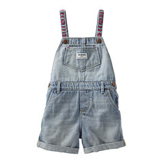 OshKosh B'gosh® Embroidered Denim Shortalls - Baby Girls 3m-24m