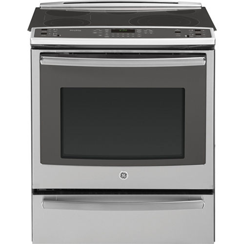 GE Profile 30 5.3 Cu. Ft. Slide-In Electric Rangewith Self Cleaning Convection and Warming Drawer