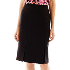 Black Label by Evan-Picone Vented-Hem Pencil Skirt