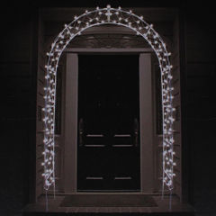 8' Lighted Entryway Front Door Archway Yard Art with Clear Lights