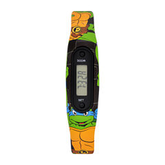 Ninja Turtle Boys Pedometer Tracker Strap Watch-Tmr4073jc