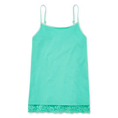 Arizona Girls Lace Trim Cami - Girls' 7-16 and Plus