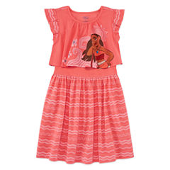 Disney Short Sleeve Moana A-Line Dress - Toddler Girls