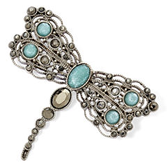Liz Claiborne® Blue Stone Silver-Tone Dragonfly Pin