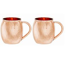 Old Dutch Hammered Solid Copper Moscow Mule Mug 16Oz Set of 2